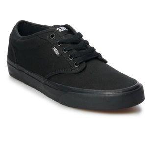 Black on Black Vans Atwood Skate Shoes Lace Up